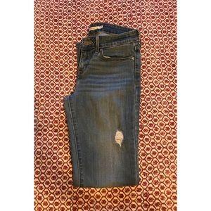 Levi's Lightly Distressed Straight Leg Jeans